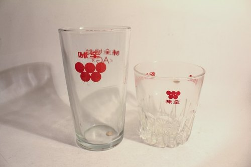 Vintage glasses old Wei Chuan milk flavor / aroma soy milk into the glass 2
