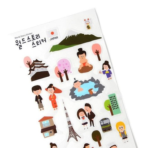 Jamstudio - World landmark travel stickers -03 Japan, JSD79251