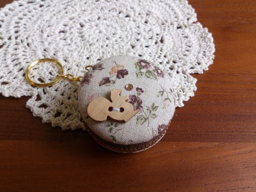 Chomii. Macaron CHARM zipper purse jewelry box Floral squirrel