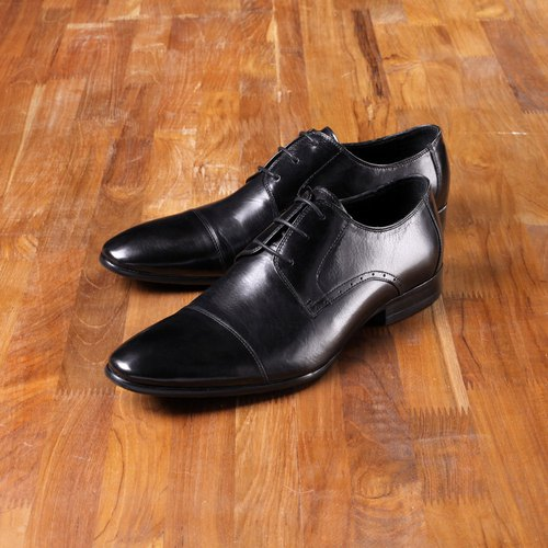 Vanger elegant US elegant minimalist type ‧ Shi male black shoes ║Va90