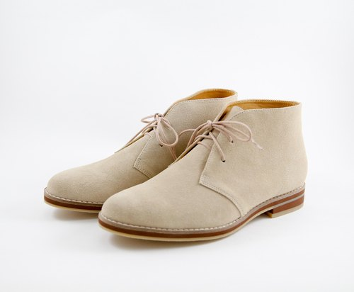 """LANEY SHOES. Lenny handmade shoes ""MIT handmade leather women casual shoes. Light Wheaten desert boots - # 40"