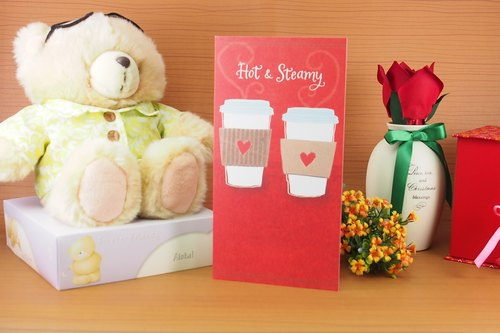 No matter how busy also tell you to drink coffee together ❤ | ​​UK Valentine card love heart love |