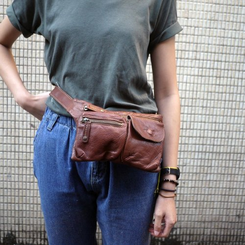 Skarn Shika // billy kids tanned brown purse