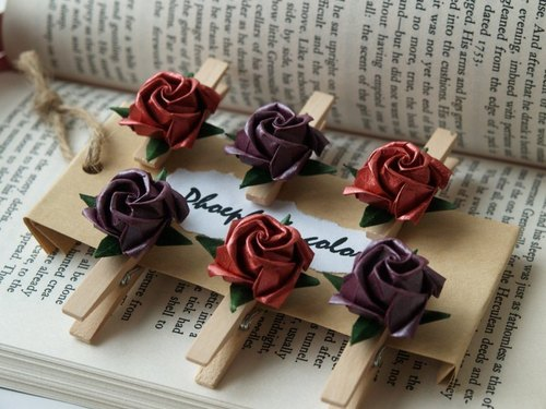 Rose memo paper clip (Rounds series)