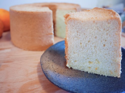 [Eat sweet] honey orange chiffon cake. 8 inches