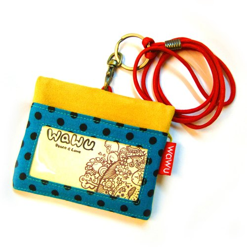 ID Holder Keychain Wallet (yellow)/ Gold Wallet / Mini Wallet / Zipper Coin Pouch / ID Holder / Badge Pocket / Business Card Holder