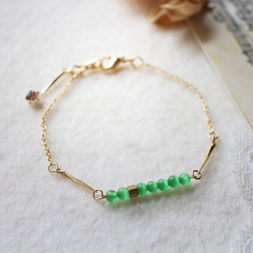 EF NO.53 inch between green opal bracelet