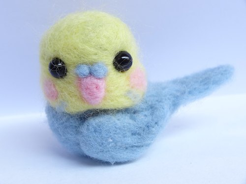 Parrot -Wool felt  (key ring or Decoration)