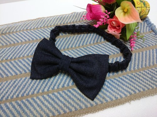 Cowboy bow hair band