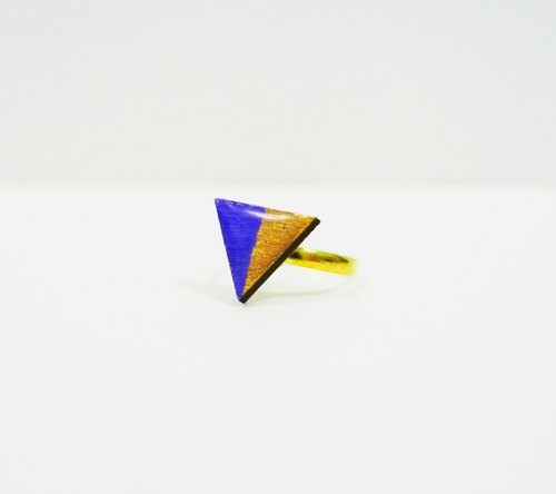 Color hand-painted wooden blocks Triangle Ring time