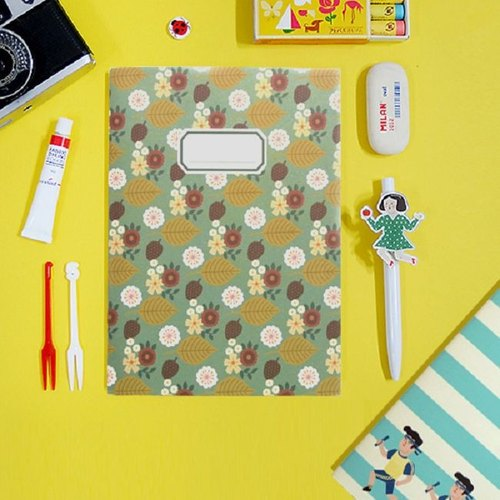 Dessin x Jamstudio-Du-dum heartbeat moment stripe pattern Notebook -05 mood, JSD78940
