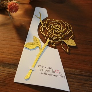 Desk + 1 │ rose bookmark (gold)