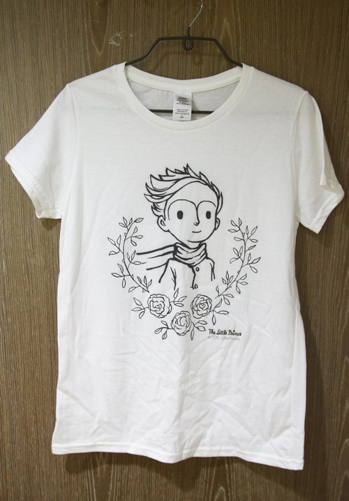 Little Prince Movie Version authorized - T-Shirt: The Little Prince [love] children short-sleeved T-shirt (white)
