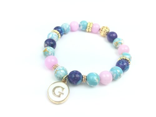 """Rendering x alloy purplish blue letters Charm Beads"""