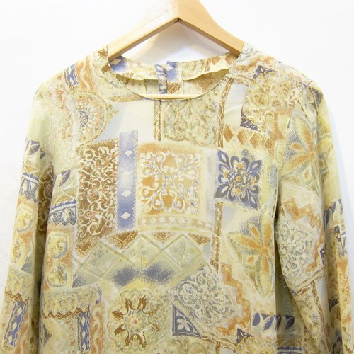 ✵ ✵ Indian Head autumn national wind vintage shirt blouses