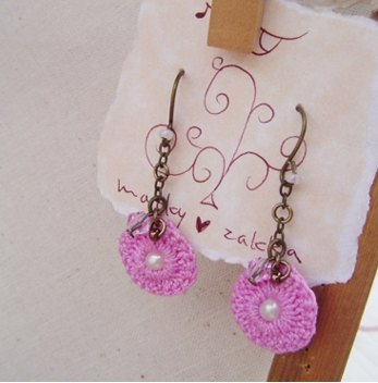 Small lace series. The 1st work. Earrings