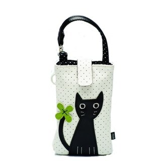 Noafamily, Noah big eyes cat with flowers, cell phone bag (iPhone 6 6s SE) _CR (J443-CR)