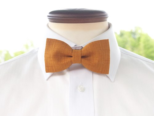 TATAN sum tone changes weave a bow tie (mustard color)
