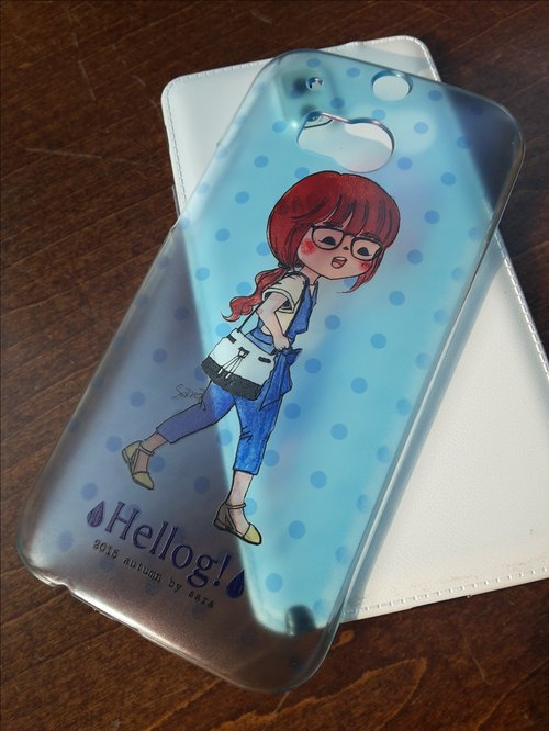 Girls Series Phone Case - ponytail girl glasses