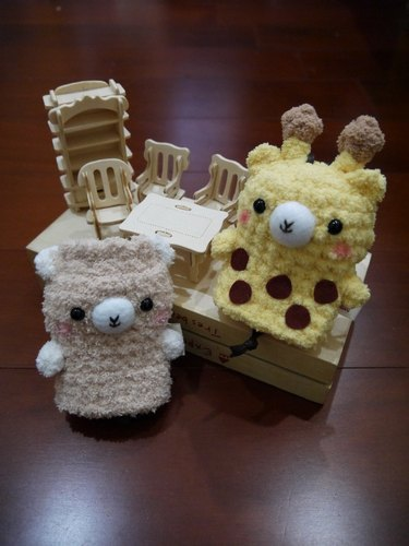 Marshmallow animals Wallets - in key cases (Giraffe / alpaca)