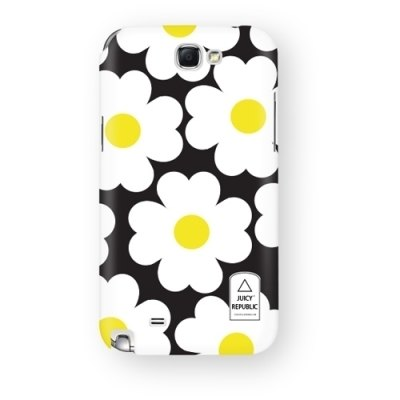 Girl home :: Juicy Republic x samsung note2 phone shell - black flower