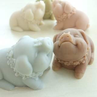 Smile pig flower handmade soap