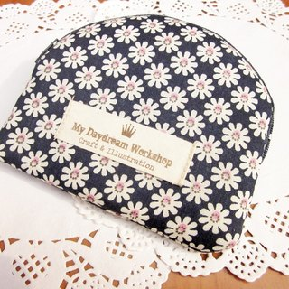 My Daydream Workshop Tian Yuanqing new small floral shell type zipper storage bag