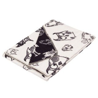 Fabulous Goose ultra-soft bristles blanket organic cotton Series - Owl (black)