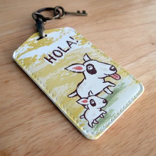 Multi-function card holder key ring -Hola! Hyena