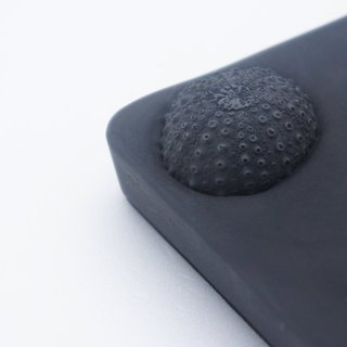 KALKI'D cement ‧ magical affinity absorbent coaster (black) - [sea urchin]
