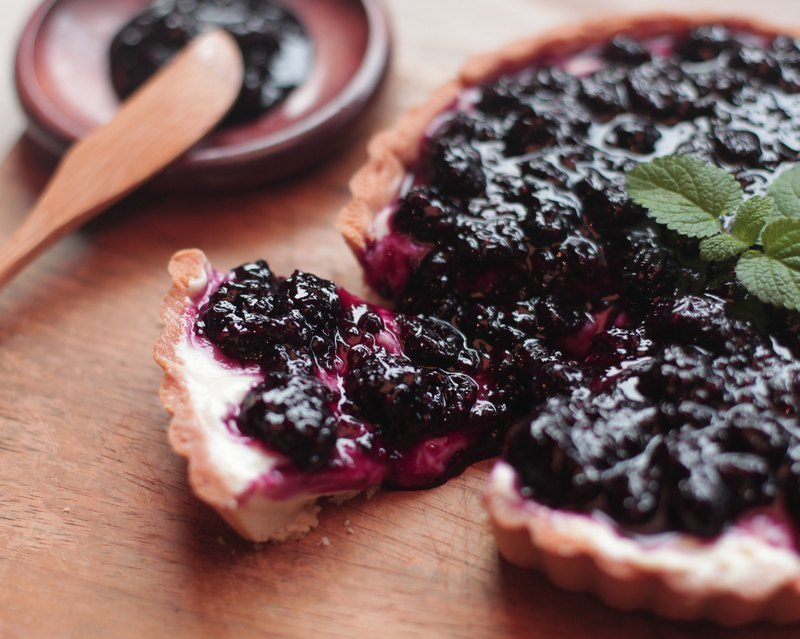 Berry cheese pie Peng