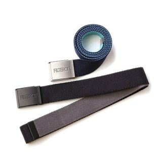 Filter017 - Belts - Two -Tone Webbing Belt Two-tone metal buckle belt
