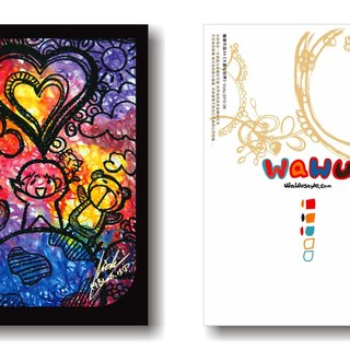 WaWu great love of the world / painted / homemade postcards / limited manual card