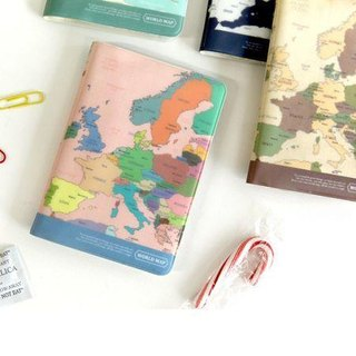 Indigo- World Map Passport Cover - Color, IDG02800