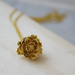 [金夏琳‧ jewelry] gold pine cone necklace gold