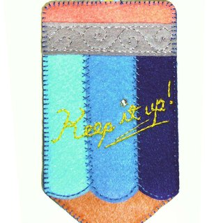 Pencil Card Case - Blue