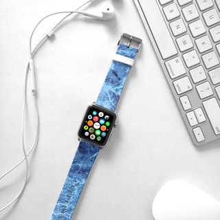 Apple Watch Series 1 , Series 2, Series 3 - Blue Marble Pattern Watch Strap Band for Apple Watch / Apple Watch Sport - 38 mm / 42 mm avilable