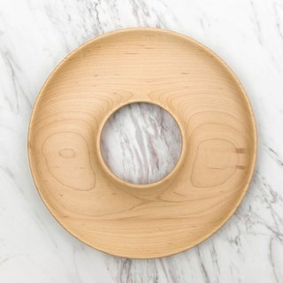 Takahashi Craft Maple Snack Plate KAKUDO Bagel Plate Maple