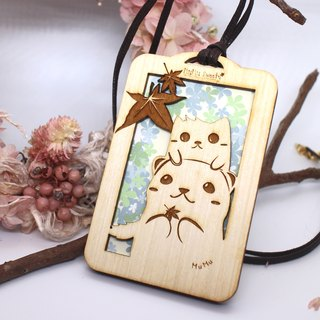 MuMu Sweety Snowy and Weird Cat's Autumn Maple / Ticket Card Holder