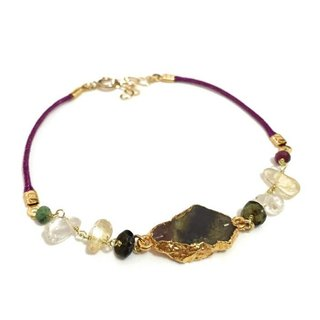 Tourmaline With Natural Stone Bracelet