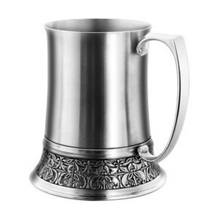 OSICHEF German carved stainless steel beer mug
