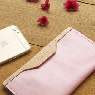 Leather Phone Case for iPhone 6/7/8 ( Custom Name ) - Pearl Pink