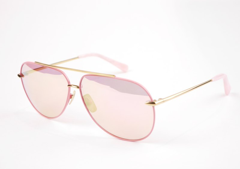 * try at home, free appointment in * DELIGHT Titanium Sunglasses - Pink Aviator Sunglasses