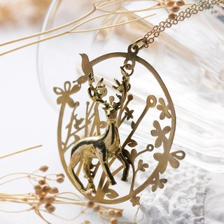 Pendant necklace deer in the Forest of fantasy.