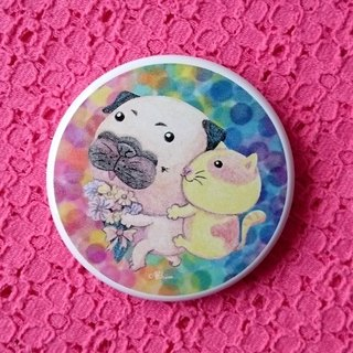 Pug Pocket Mirror-Carrying Your Love With Me