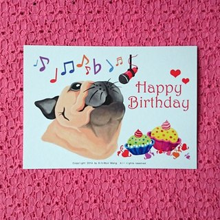 Postcard-Happy Birthday Pug-02