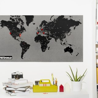 Palomar fight world map black