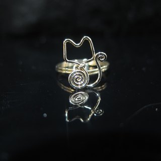 Winwing wire braid Ring - Ring] [happy kitten. Memorial Ring