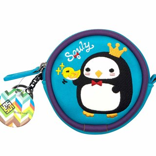 Kily Penguin Embroidery Coins Bag