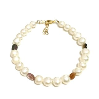 Pretty Pearl with Tourmaline Bracelet